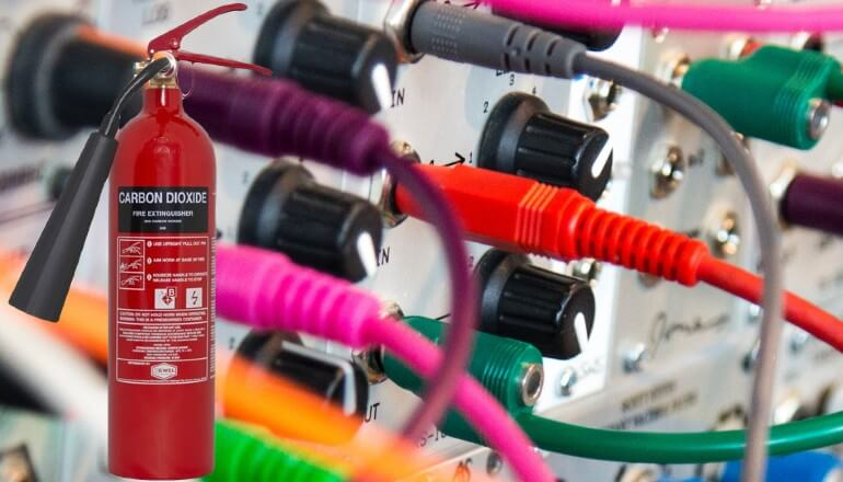 What is a CO2 fire extinguisher used for?